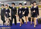 Tiếp viên hàng không Triều Tiên xinh như mộng