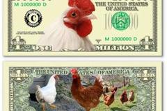 Săn tiền lì xì Tết hình con gà độc đáo