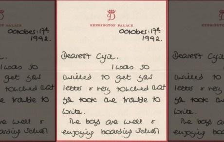 Tình mẫu tử của Công nương Diana qua những bức thư được đem đấu giá