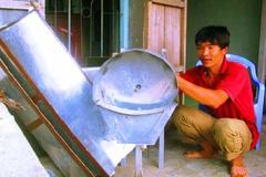 Chiếc máy thái rau lợn độc đáo của anh nông dân Bình Định