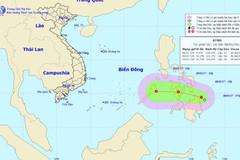 Xuất hiện áp thấp gần Biển Đông