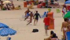 Màn truy đuổi cướp nghẹt thở trên bãi biển