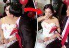 10 clip 'nóng': Hành động gây xôn xao của cô dâu xinh đẹp khi được hôn