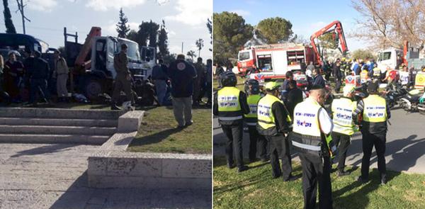 Tấn công xe tải ở Jerusalem, ít nhất 4 người chết
