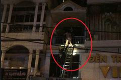 Nạn nhân vụ cháy leo tầng 4 thoát chết ngoạn mục