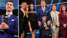 Bạn gái Ronaldo đẹp rạng ngời tham dự Gala FIFA