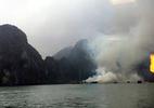 Vụ cháy trên vịnh Hạ Long, đình chỉ 6 tàu du lịch