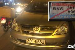 CSGT Hà Nội xử phạt xe gắn thẻ Bộ Công an ngang ngược cản đường dân