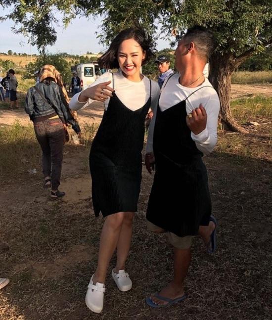 Chí Trung hài hước bế Ngọc Huyền chụp ảnh trước thác nước - ảnh 11