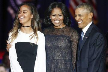 Con gái út Obama bận thi khi cha đọc diễn văn từ biệt