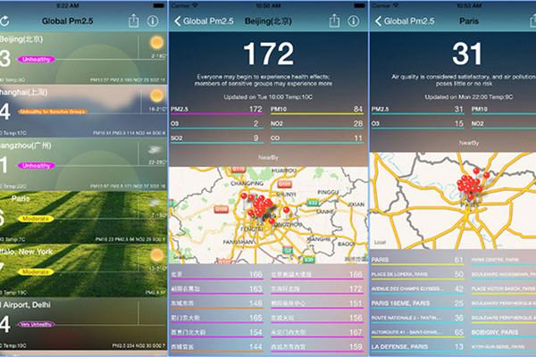 Tra cứu mức độ ô nhiễm không khí bằng smartphone