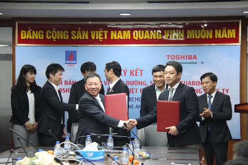 PV Power và Toshiba kí kết hợp tác về bảo dưỡng
