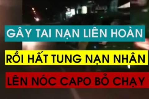 Taxi hất tung người lên nắp capo rồi bỏ chạy