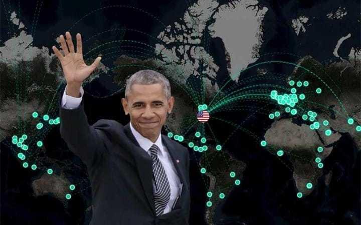 Tiết lộ thú vị về những chuyến công du của Obama