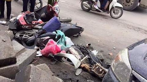 Ô tô húc hàng loạt xe máy, 3 người tử vong – VietNamNet
