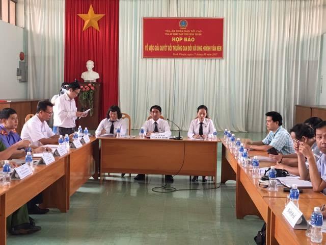 oan sai, Huỳnh Văn Nén, họp báo, bồi thường oan sai, người tù thế kỷ, Ông Huỳnh Văn Nén được bồi thường 10 tỷ, ông Huỳnh Văn Nén được bồi thường, TAND Bình Thuận bồi thường ông Nén