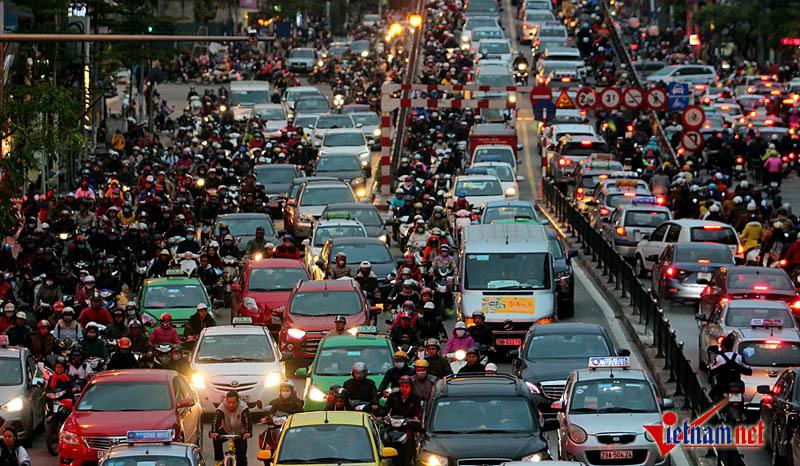 200.000 USD chống ùn tắc, tắc đường hà nội, giao thông Hà Nội, hạn chế xe cá nhân