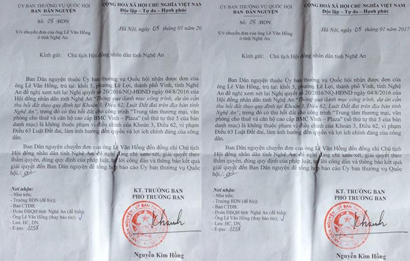 UBND TP Vinh thua kiện, nộp 200 nghìn án phí