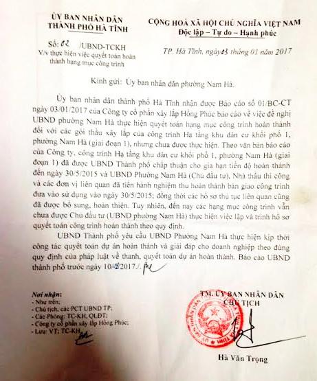 Hà Tĩnh: Ngâm 8 tỷ của nhà thầu vì không tin chủ tịch tiền nhiệm