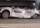 Hà Nội: 7 ô tô đâm nhau, xe tải nuốt taxi trên cầu Thanh Trì