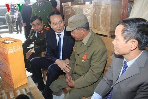 chủ tịch nước Trần Đại Quang, chúc Tết, Trường Sa, Hải Phòng