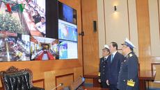 Chủ tịch nước nói chuyện với quân dân Trường Sa qua cầu truyền hình