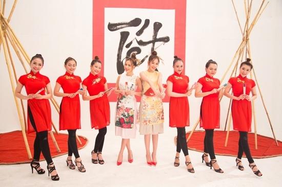 Hoàng Thùy Linh, Chi Pu diện áo dài vẫn quậy tưng bừng trong MV Tết