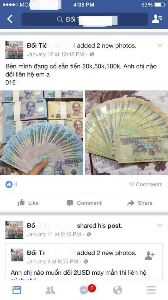 Đổi tiền mới Tết Đinh Dậu: Ngân hàng than khó, 'chợ đen' chặt chém