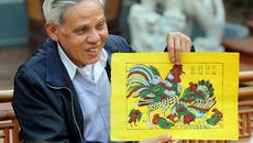 Giải mã cực thú vị 6 loại gà trong tranh Đông Hồ