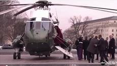 Obama lên trực thăng, rời nhà quốc hội