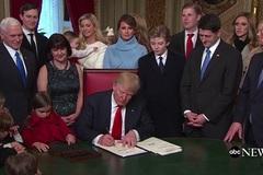 Ba văn bản Trump ký ngay sau nhậm chức