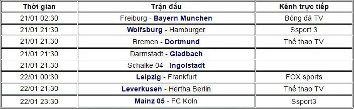 Bundesliga vòng 17