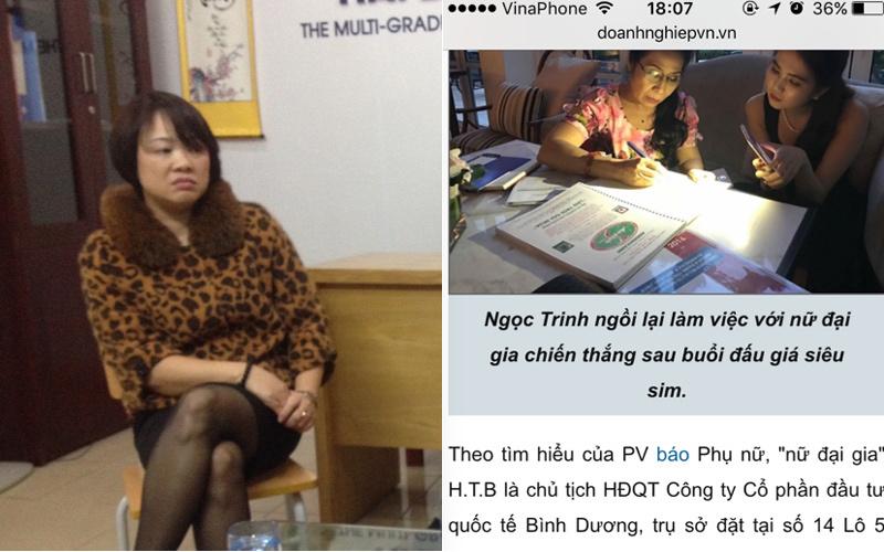 Nữ doanh nhân bị liên lụy vụ đấu giá siêu sim của Ngọc Trinh