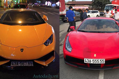 """Cặp đôi siêu xe mang """"siêu biển"""" chung chủ tại Đà Nẵng"""