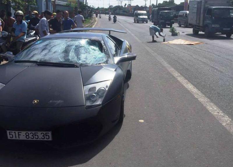 Siêu xe của đại gia Sài Gòn đâm chết người trên quốc lộ
