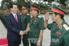 Chủ tịch nước thăm, chúc Tết lực lượng vũ trang Quân khu 9