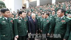 Tổng bí thư làm việc và chúc Tết Bộ Tư lệnh Bộ đội Biên phòng