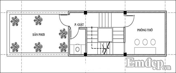 Tư vấn xây nhà ba tầng một lửng mặt phố kinh phí 805 triệu đồng