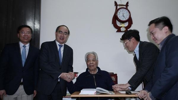 nguyên Tổng Bí thư Đỗ Mười, đỗ mười, Chủ tịch MTTQ Nguyễn Thiện Nhân, Nguyễn Thiện Nhân