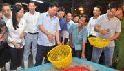 Bí thư Thăng thị sát chợ đầu mối lớn nhất Sài Gòn đêm cận Tết
