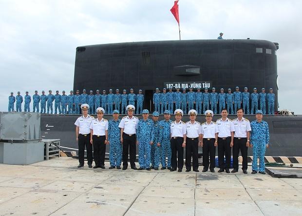 Cán bộ, thủy thủ Tàu ngầm Bà Rịa-Vũng Tàu nhận nhiệm vụ