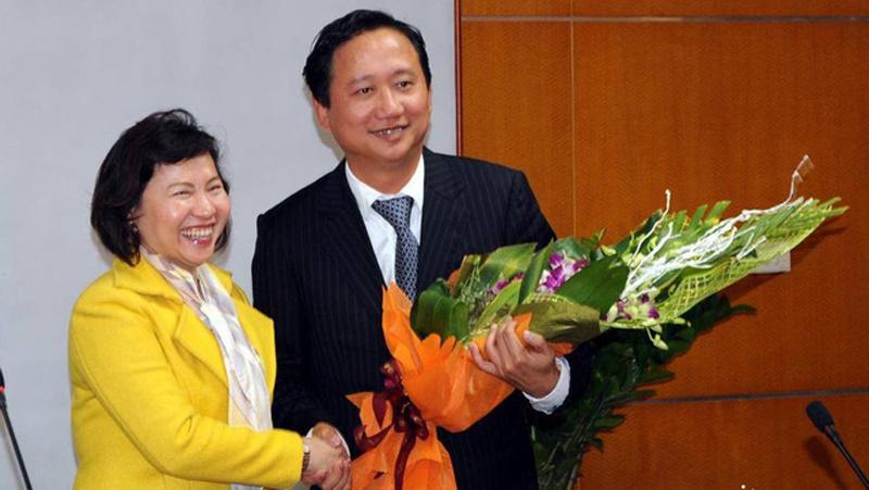 Thứ trưởng Công Thương Hồ Thị Kim Thoa, kỷ luật thứ trưởng, Hồ Thị Kim Thoa, Vũ Huy Hoàng, bộ công thương, trịnh xuân thanh