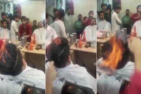 Nổi tiếng thế giới nhờ châm lửa trên tóc khách hàng