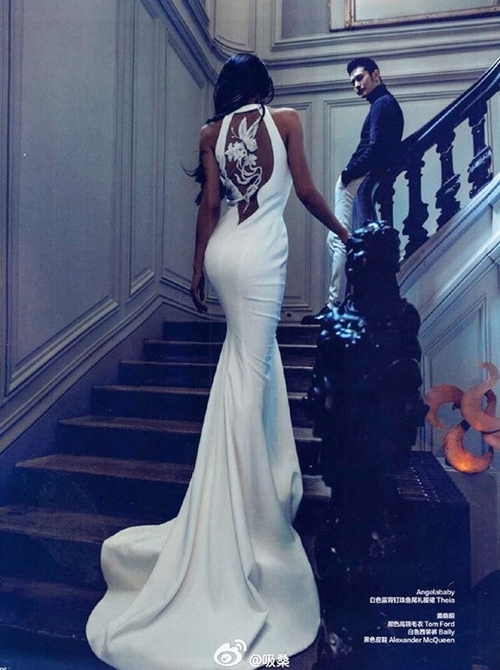 Bộ ảnh cưới nóng bỏng của Angelababy và Huỳnh Hiểu Minh