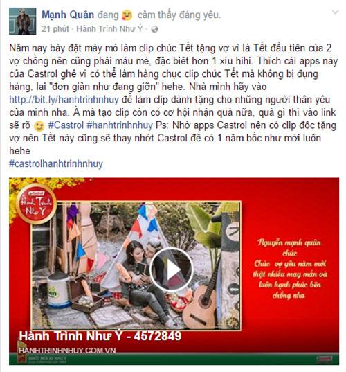 Sao Việt 'sốt xình xịch' trào lưu chúc Tết bằng video