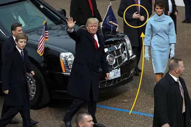 Bí ẩn vệ sỹ dùng tay giả tháp tùng Trump nhậm chức