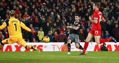 Video bàn thắng Liverpool 0-1 Southampton