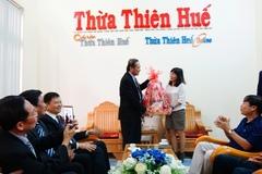 Bộ trưởng Trương Minh Tuấn thăm, chúc Tết Báo Thừa Thiên Huế