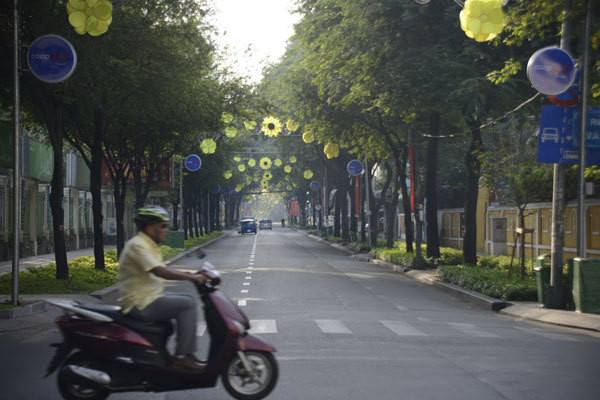 Buổi sáng đầu năm thảnh thơi hiếm hoi của người Sài Gòn