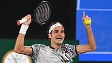 Giây phút vỡ òa của Federer sau khi hạ Nadal ở CK Úc mở rộng
